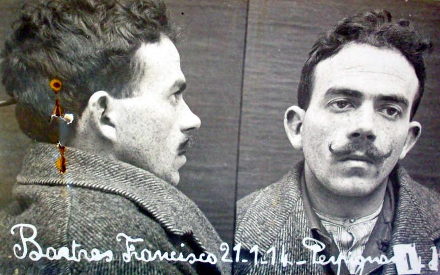 Foto antropomètrica de Francesc Bartrés Colomé (1914)