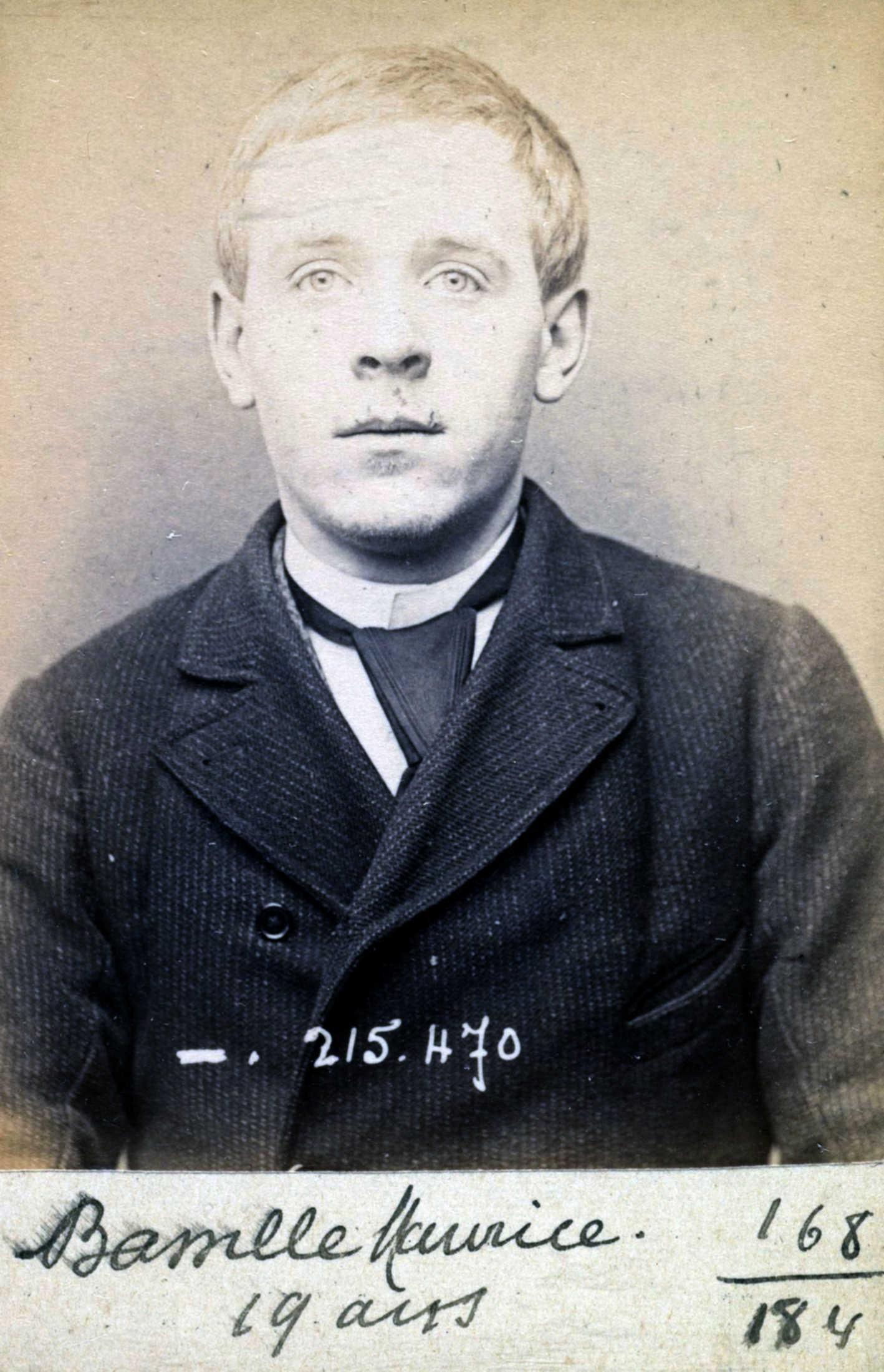 Foto policíaca de Maurice Bassille (9 de març de 1894)