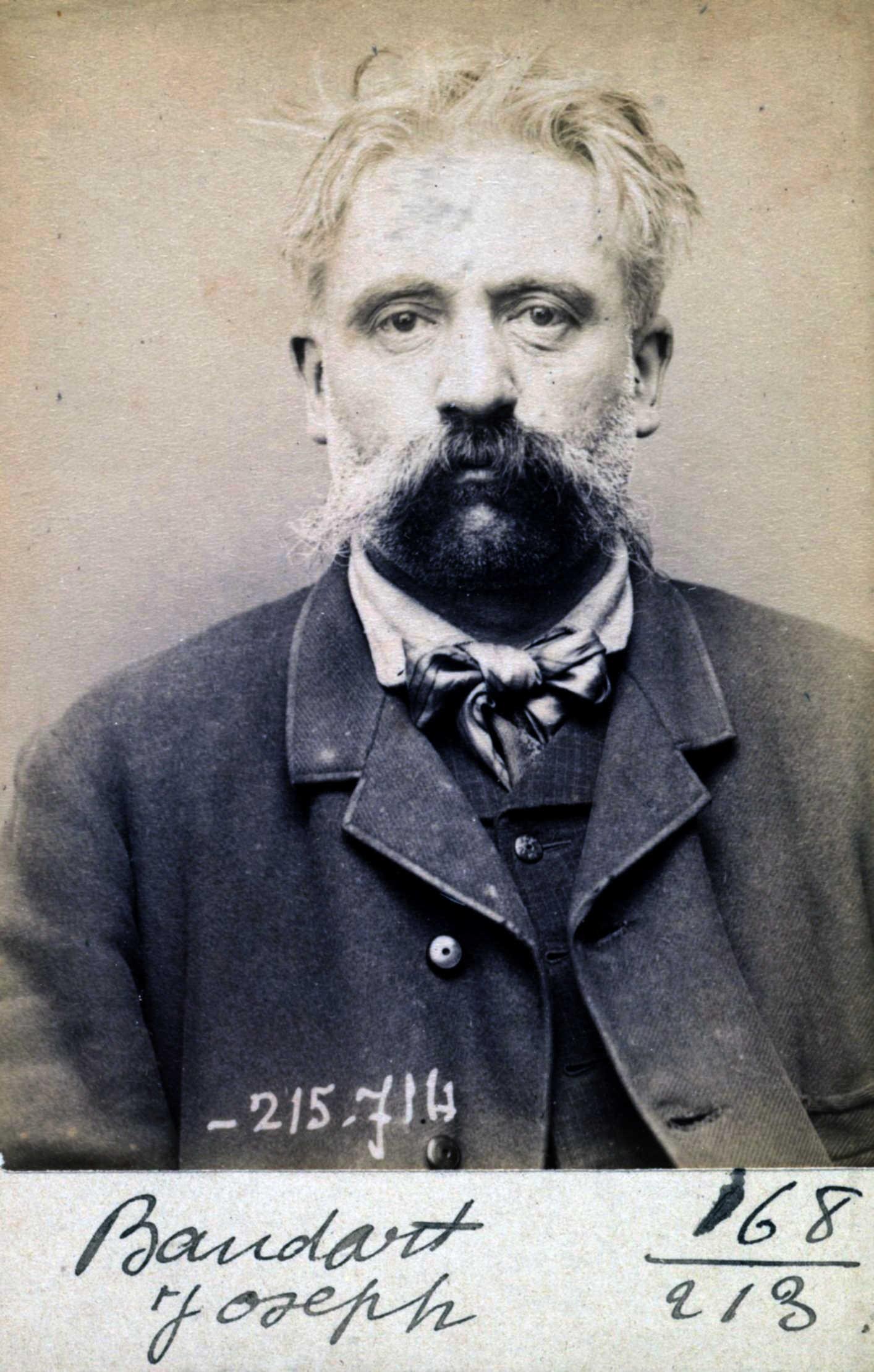 Foto policíaca de Joseph Baudart (15 de març de 1894)
