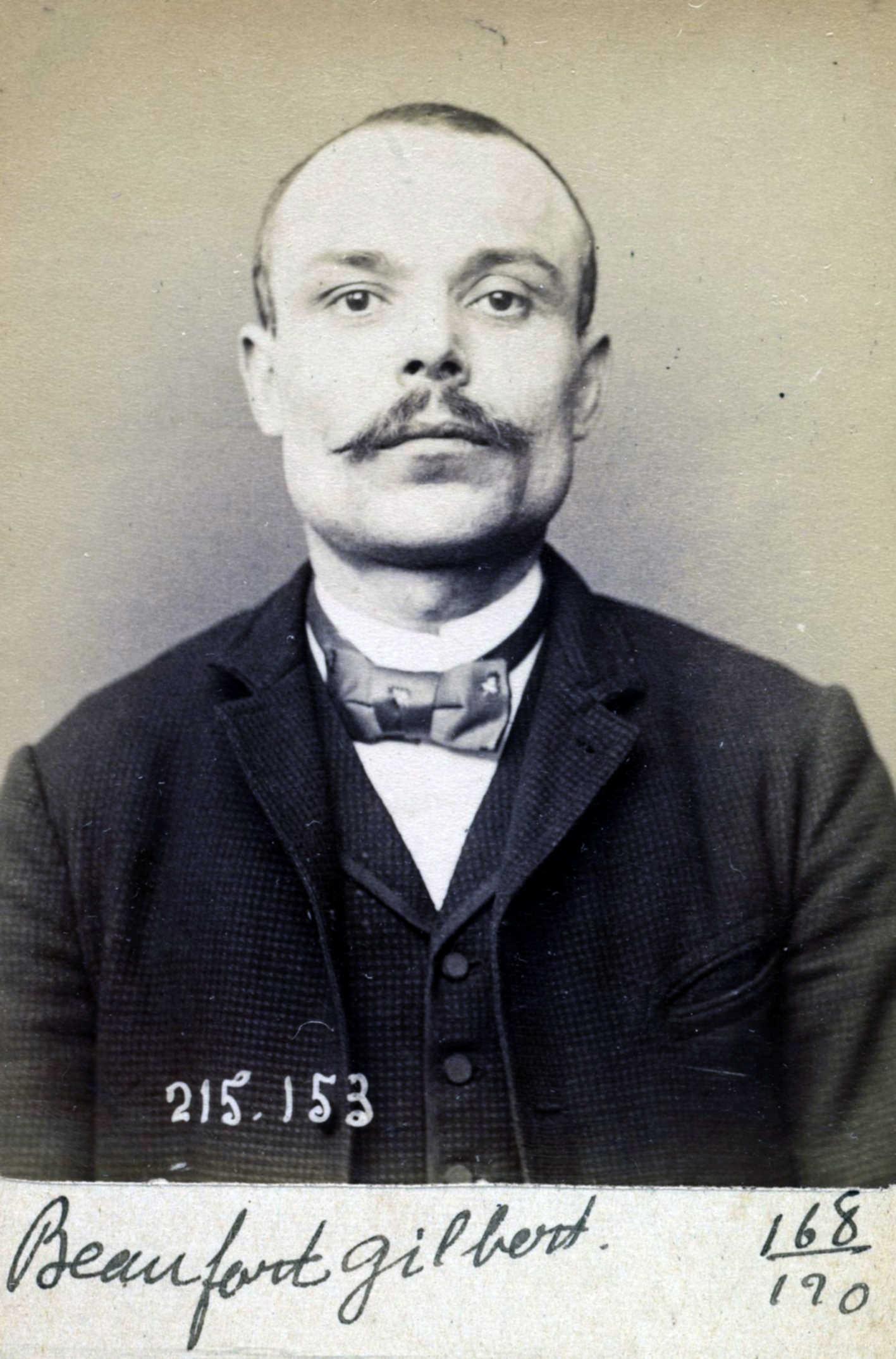 Foto policíaca de Gilbert Beaufort (5 de març de 1894)
