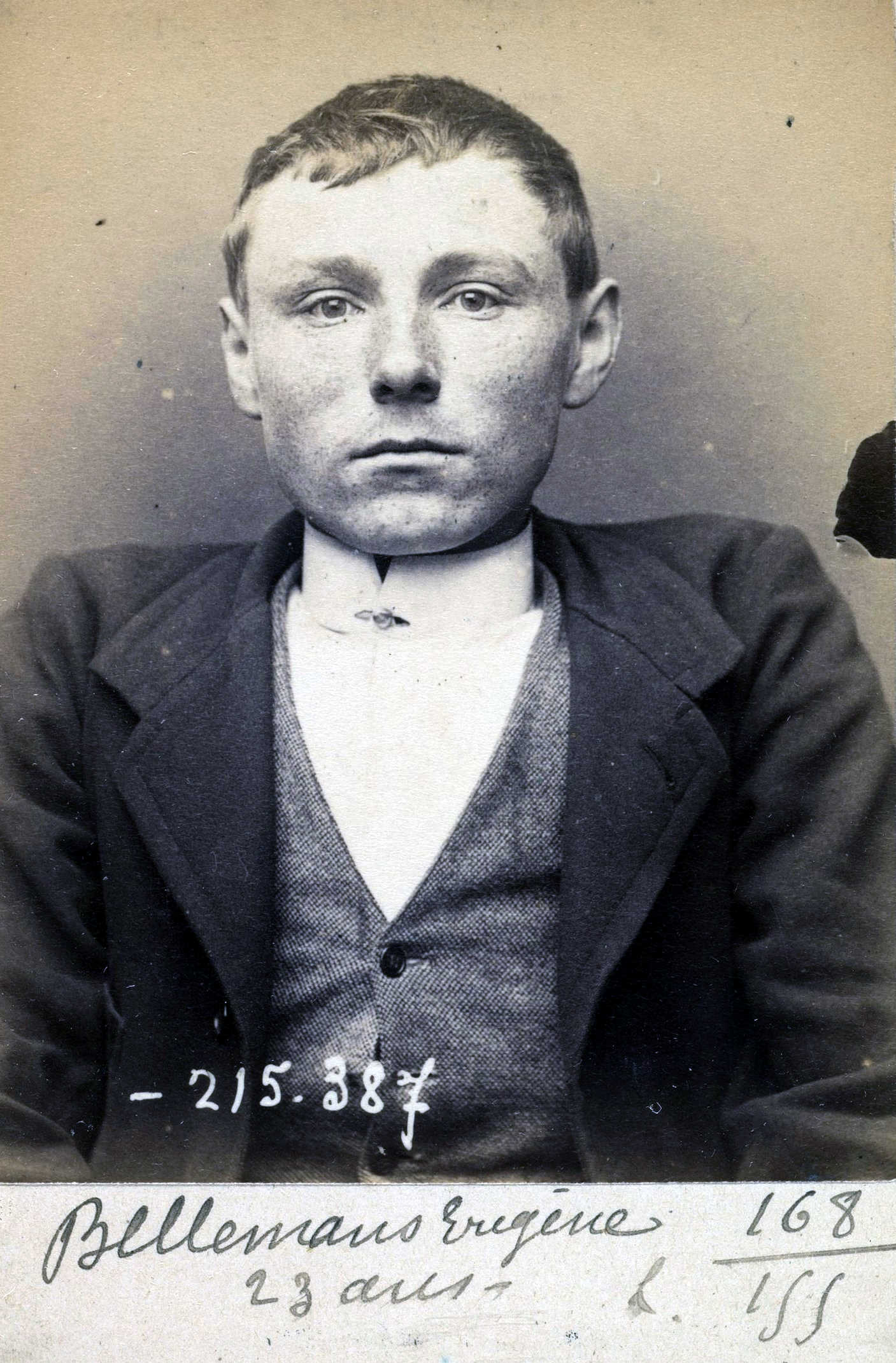 Foto policíaca de Michel Bellemans (3 de setembre de 1894)