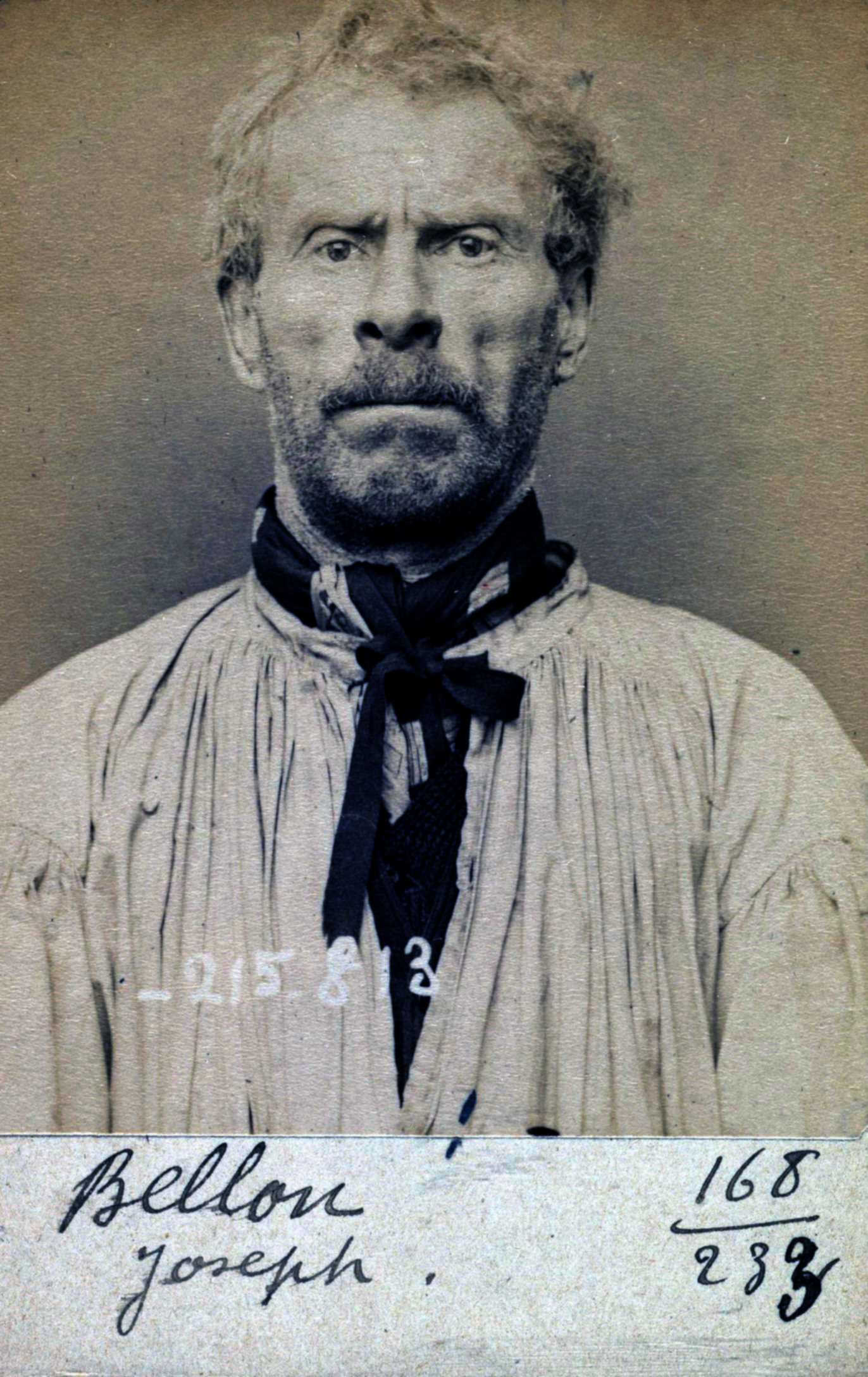 Foto policíaca de Joseph Bellon (17 de març de 1894)