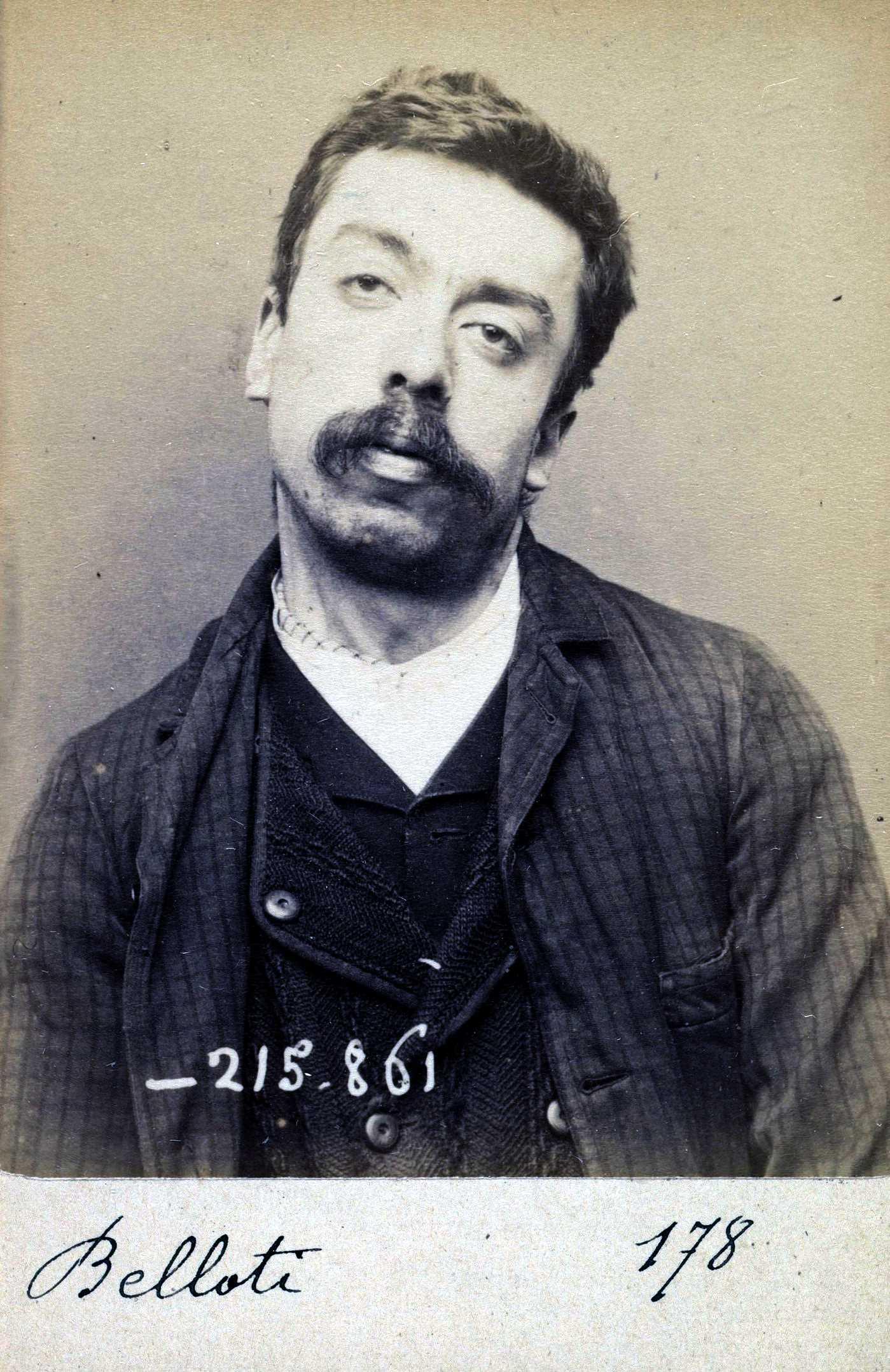 Foto policíaca de Louis Belloti (18 de març de 1894)