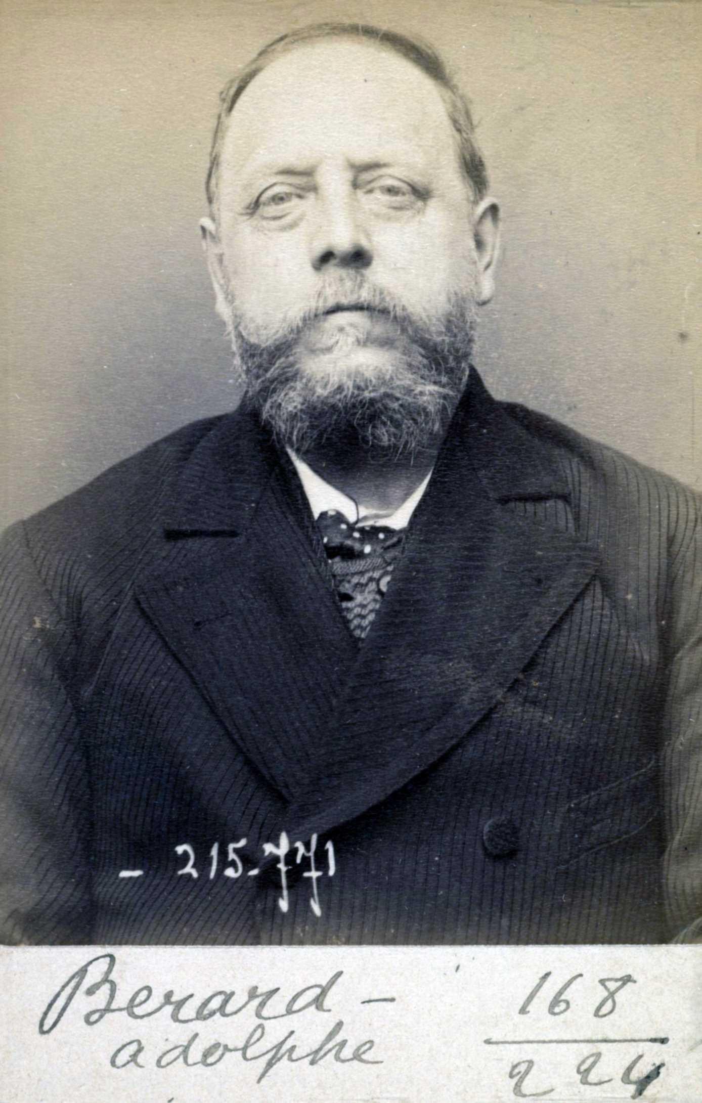 Foto policíaca d'Adolphe Bérard (16 de març de 1894)