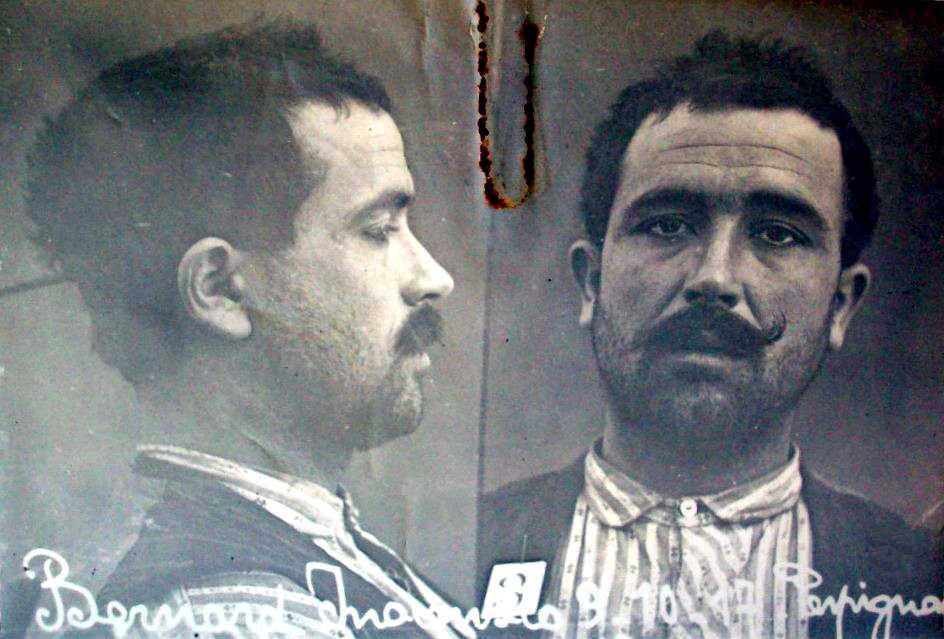 Foto antropomètrica d'Inocencio Bernard Expósito (1917)