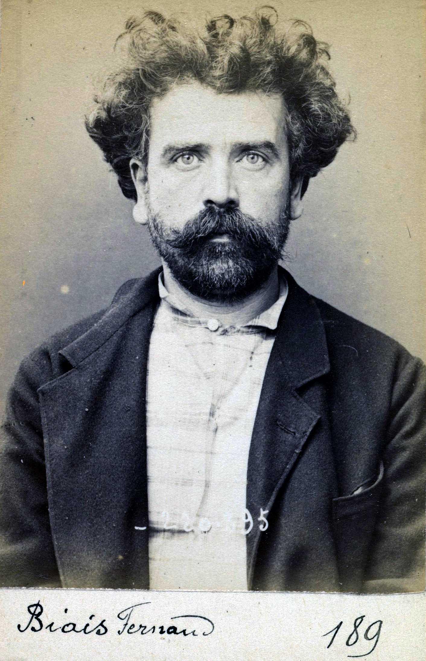 Foto policíaca de Fernand Biais (2 de juliol de 1894)