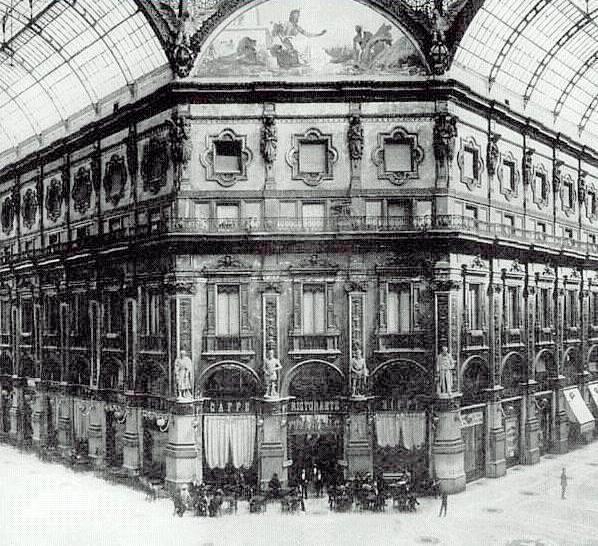 """Cafè-restaurant Biffi, a la Galleria Vittorio Emanuele II de Milà, on es trobava el """"Circolo dei Nobili"""""""
