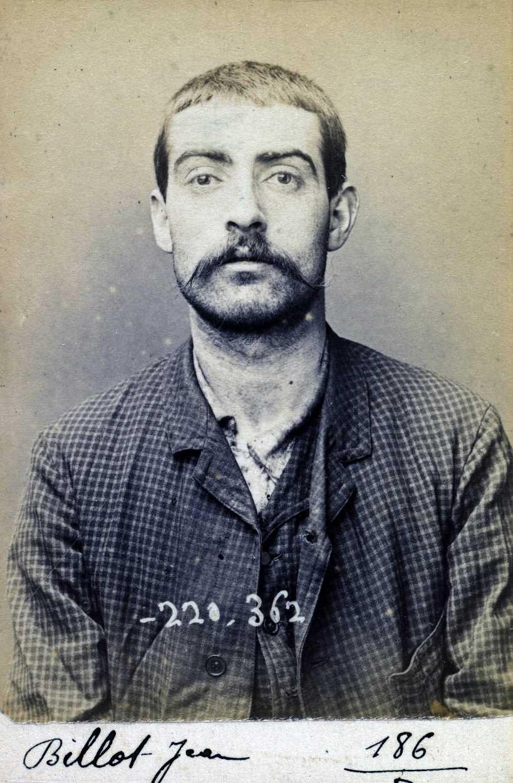 Foto policíaca de Jean Billot (1 de juliol de 1894)
