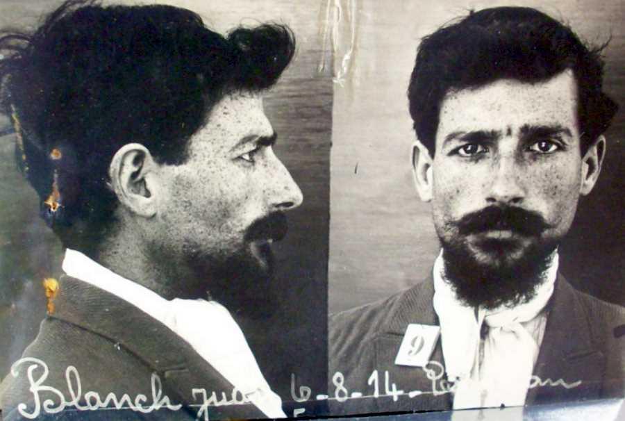 Foto policíaca de Joan Blanch Salvadó (6 d'agost de 1914)
