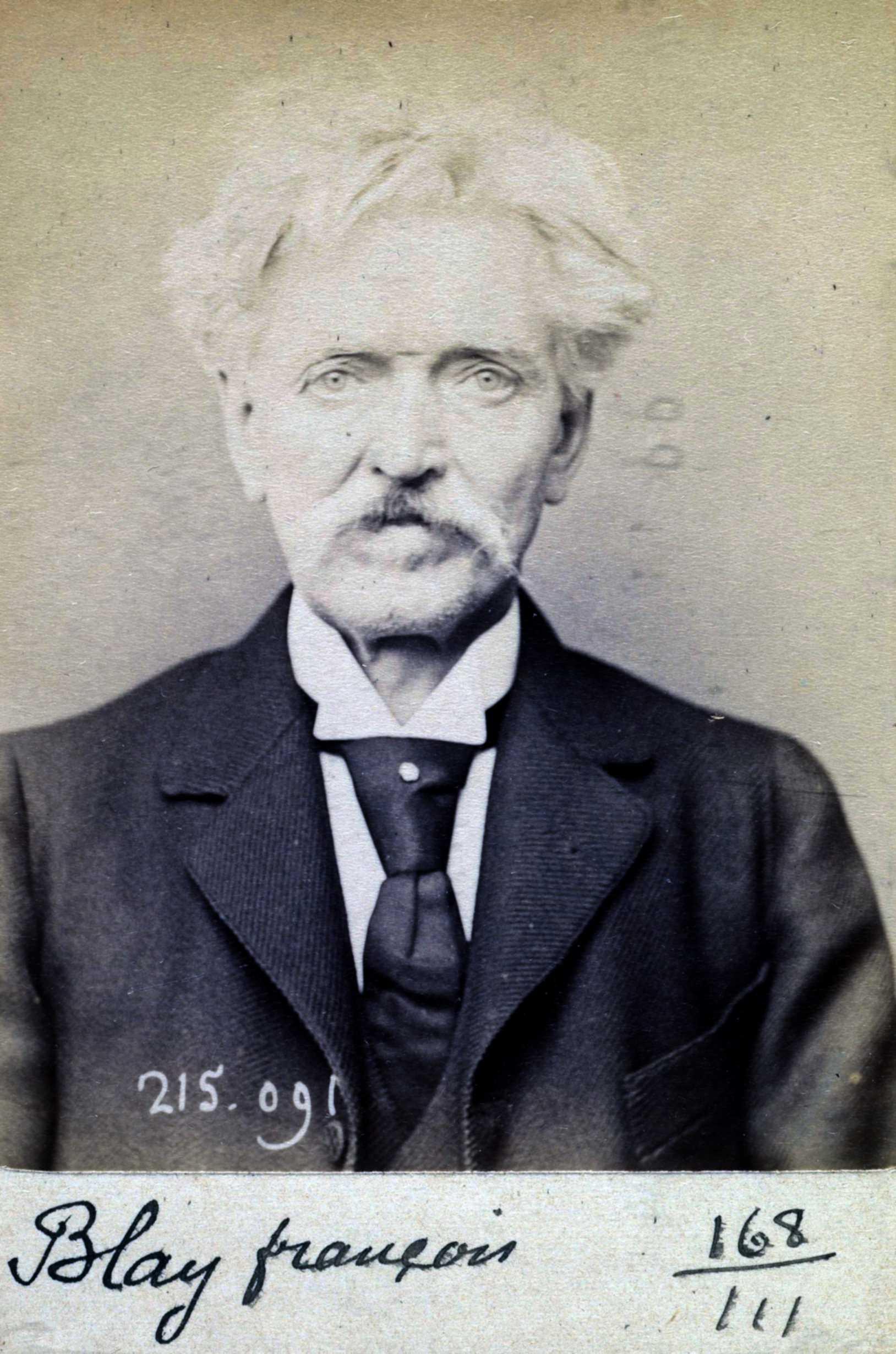 Foto policíaca de François Blay (4 de març de 1894)