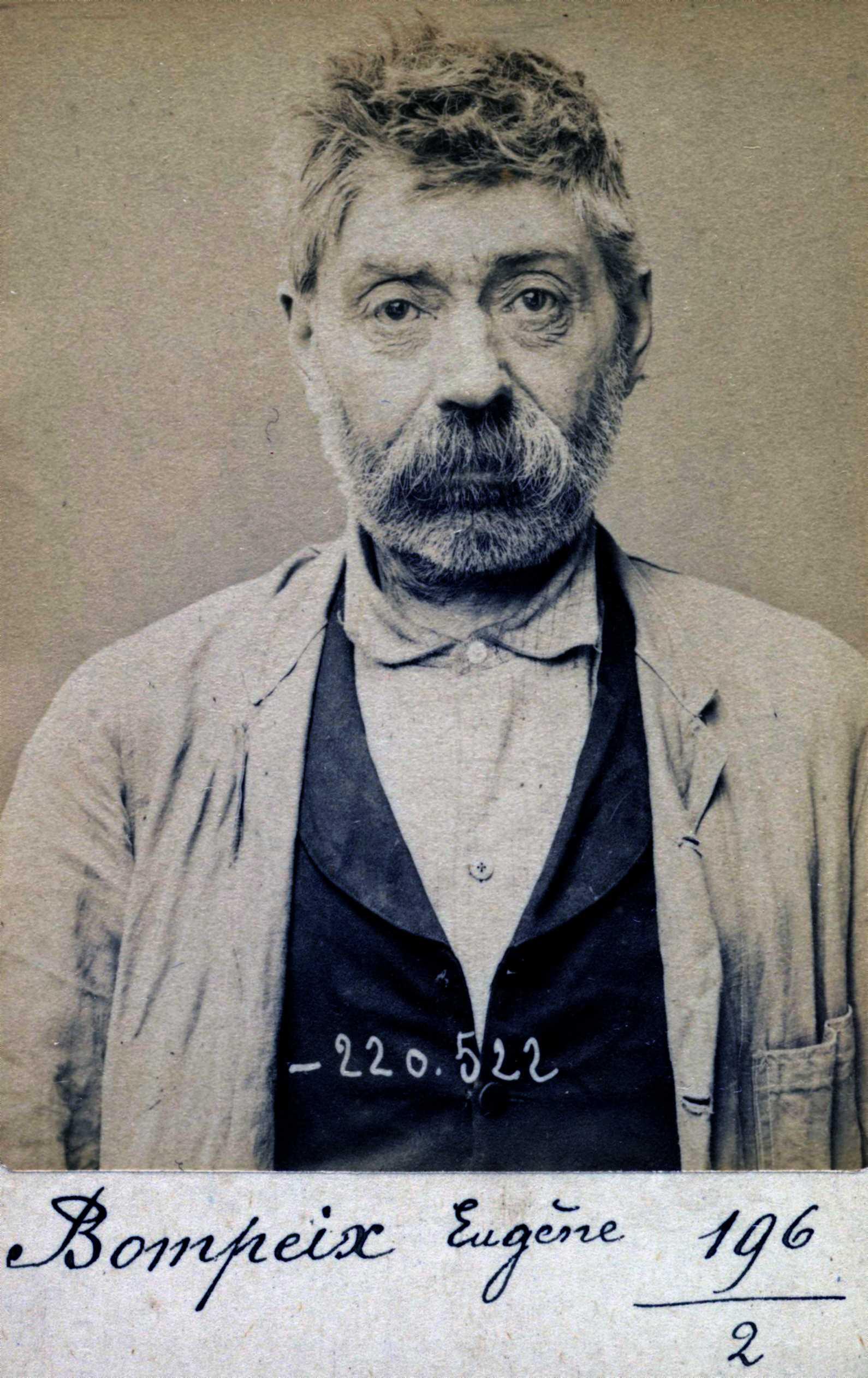 Foto policíaca d'Eugène Bompeix (3 de juliol de 1894)