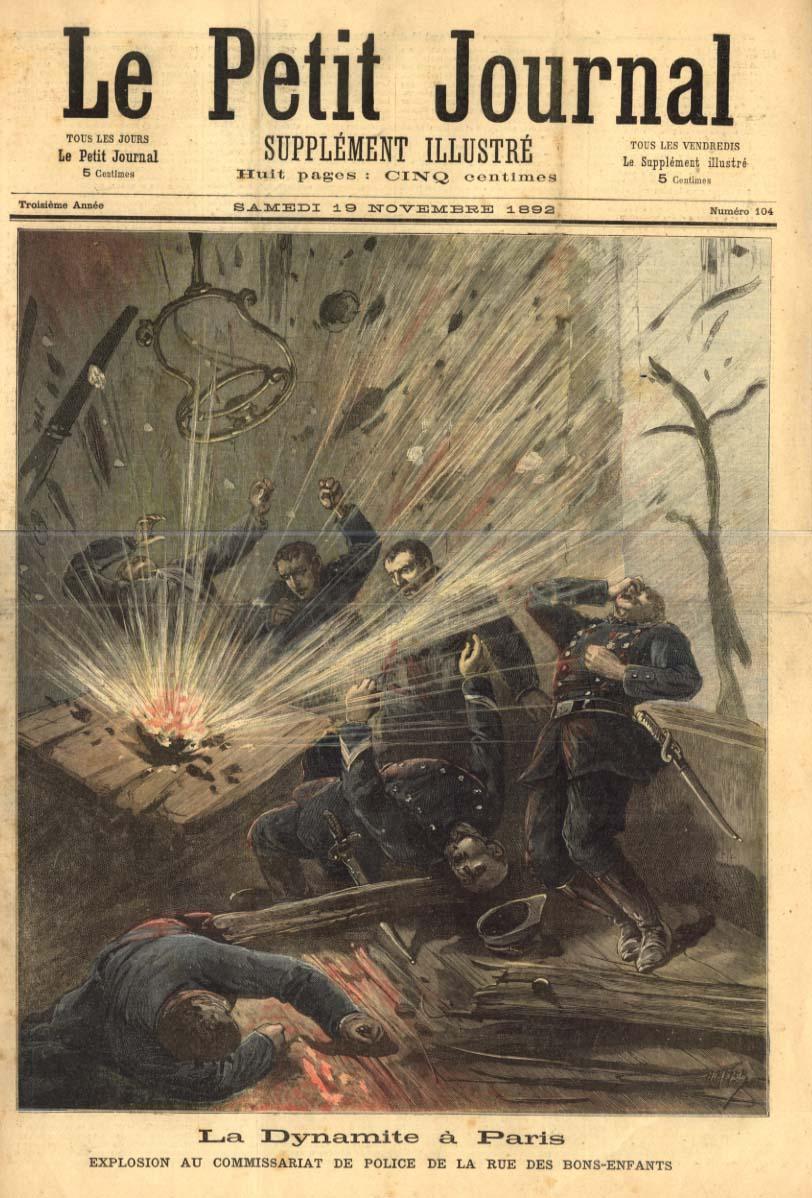 """La bomba de Bons-Enfants segons el diari parisenc """"Le Petit Journal"""" del 19 de novembre de 1892"""