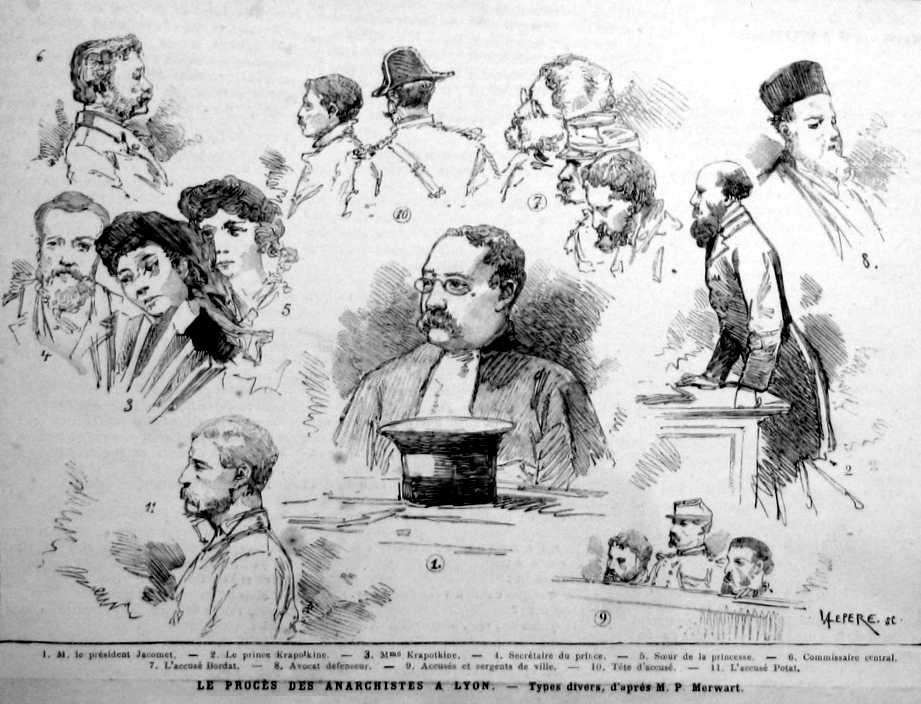 """El procés als anarquistes de Lió segons el diari parisenc """"L'Univers Illustré"""" i on apareix Toussaint Bordat"""