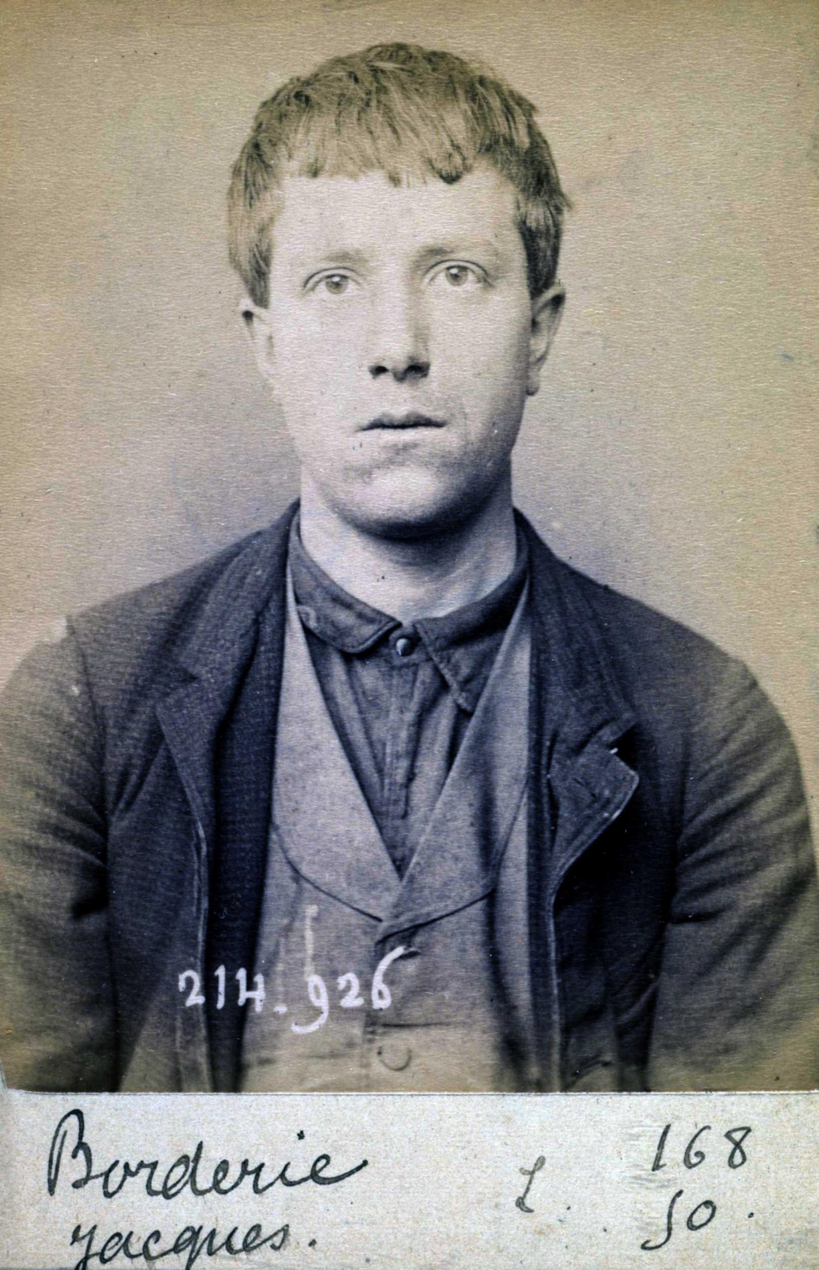 Foto policíaca de Jacques Borderie (1 de març de 1894)