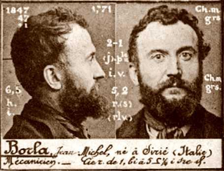 Foto policíaca de Jean Borla (1894)