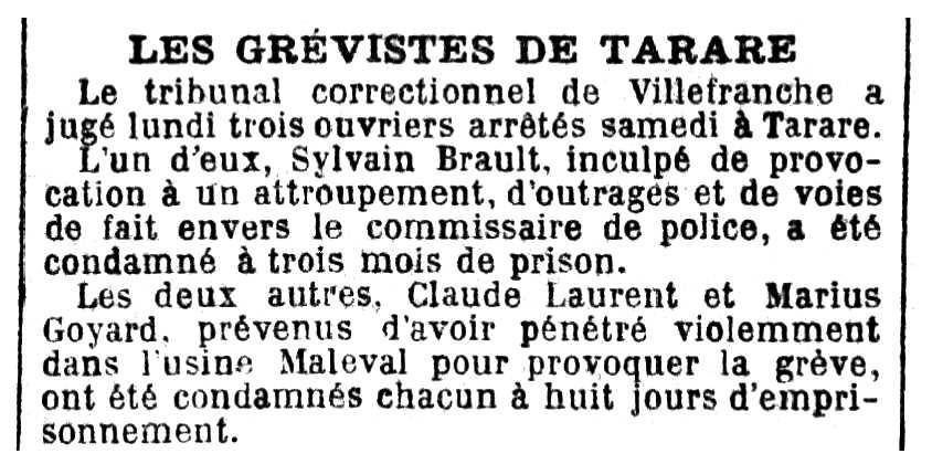 """Notícia de la detenció de Sylvain Brault apareguda en el diari parisenc """"La Croix"""" del 9 d'octubre de 1890"""