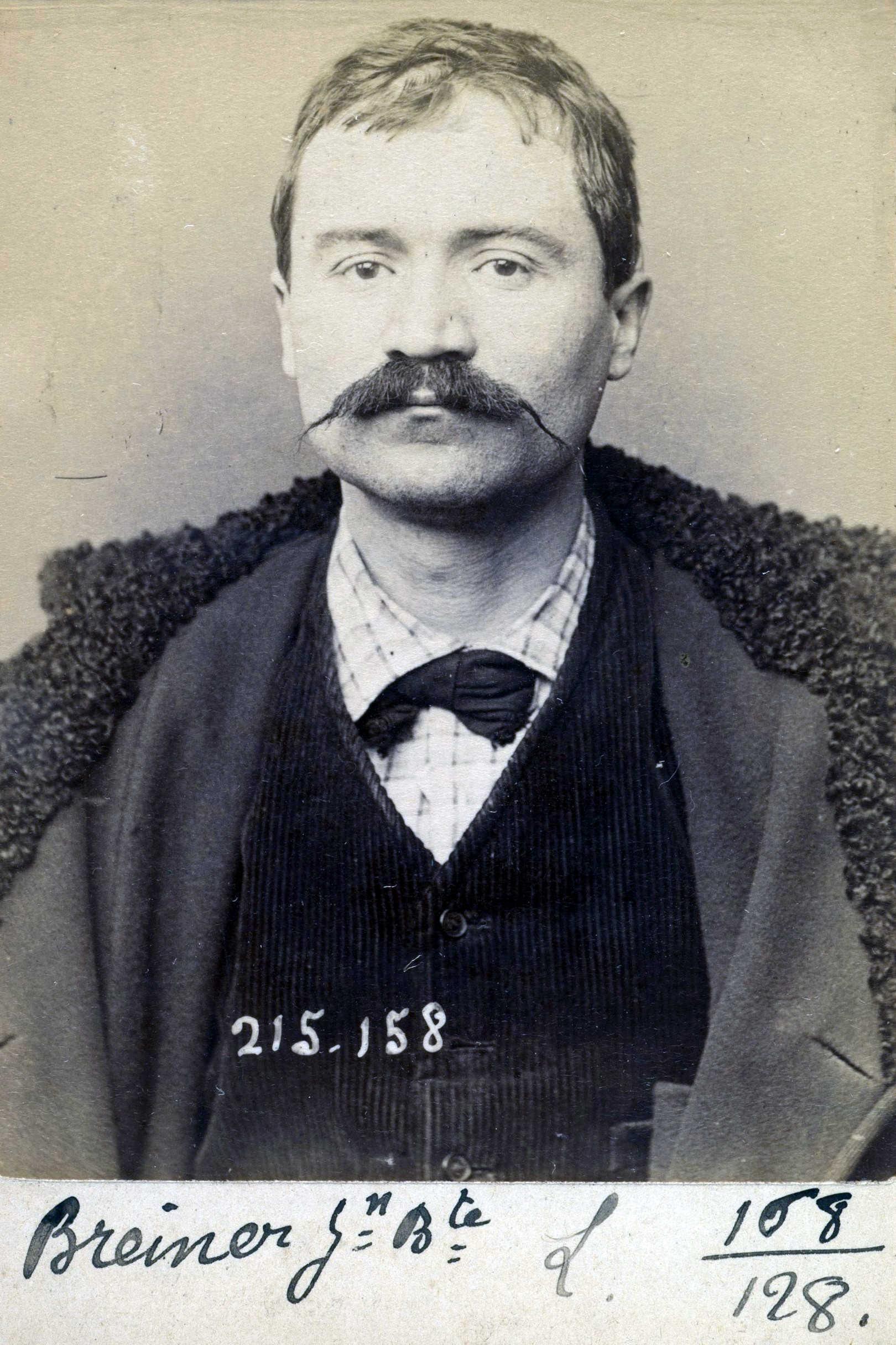 Foto policíaca de Jean-Baptiste Breiner (5 de març de 1894)