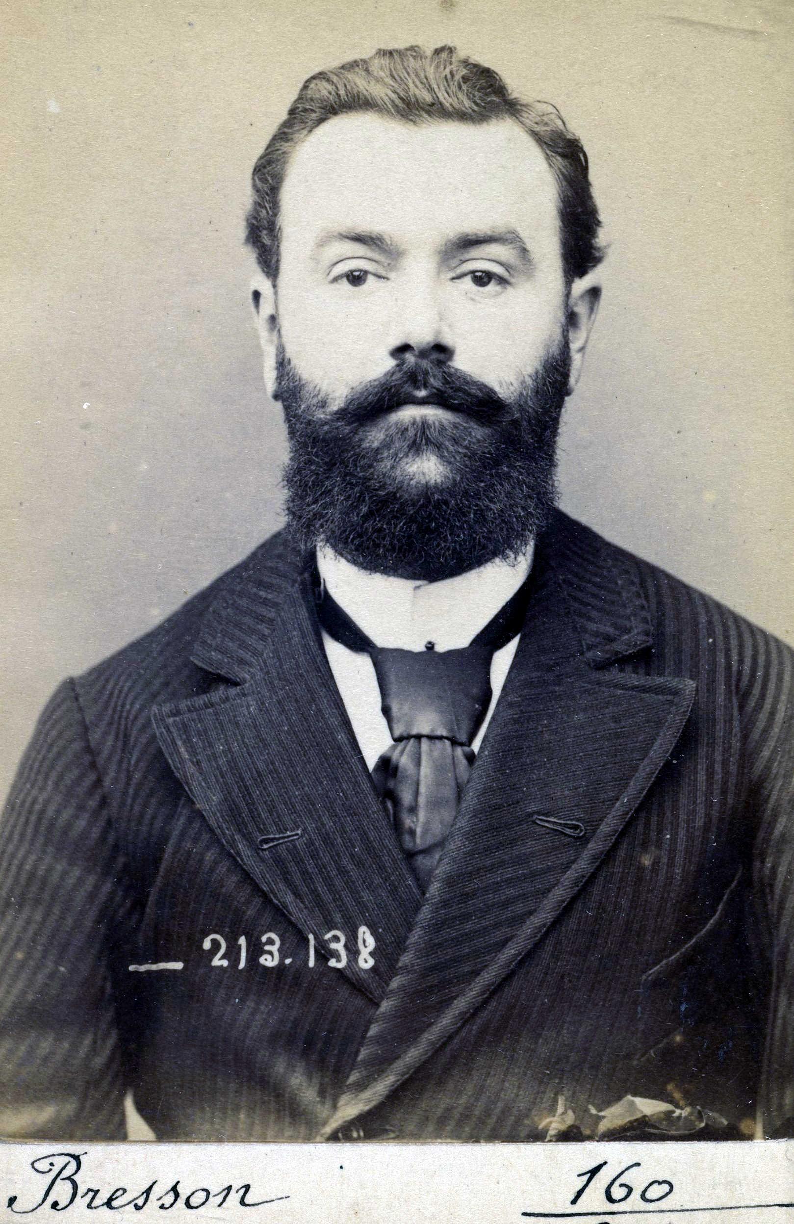 Foto policíaca de Marie-Eugène Bresson (20 de gener de 1894)