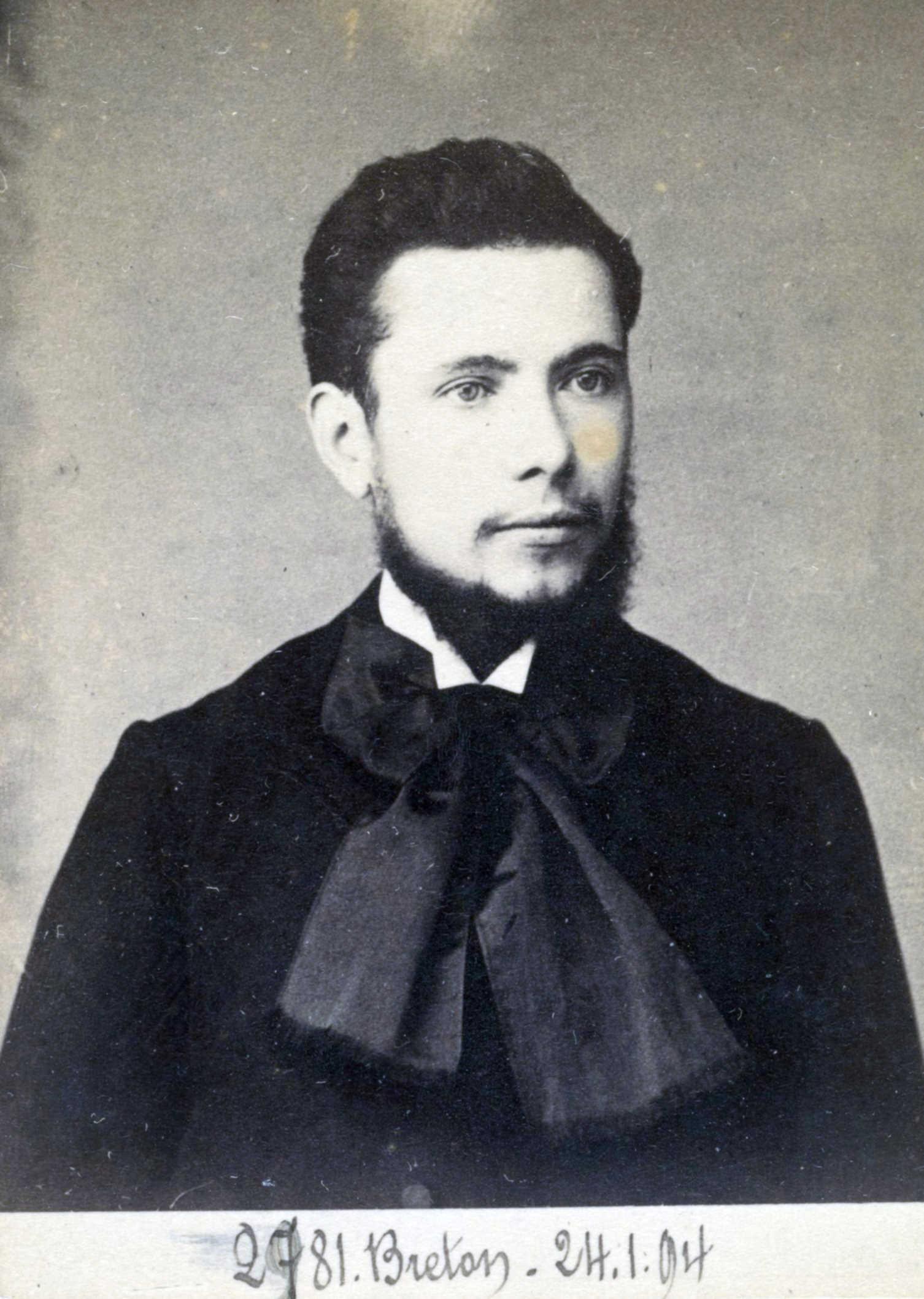 Foto policíaca de Jean Auguste Breton (24 de gener de 1894)