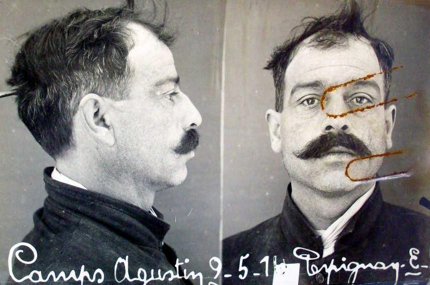 Foto antropomètrica d'Agustí Camps Caja (9 de maig de 1916)