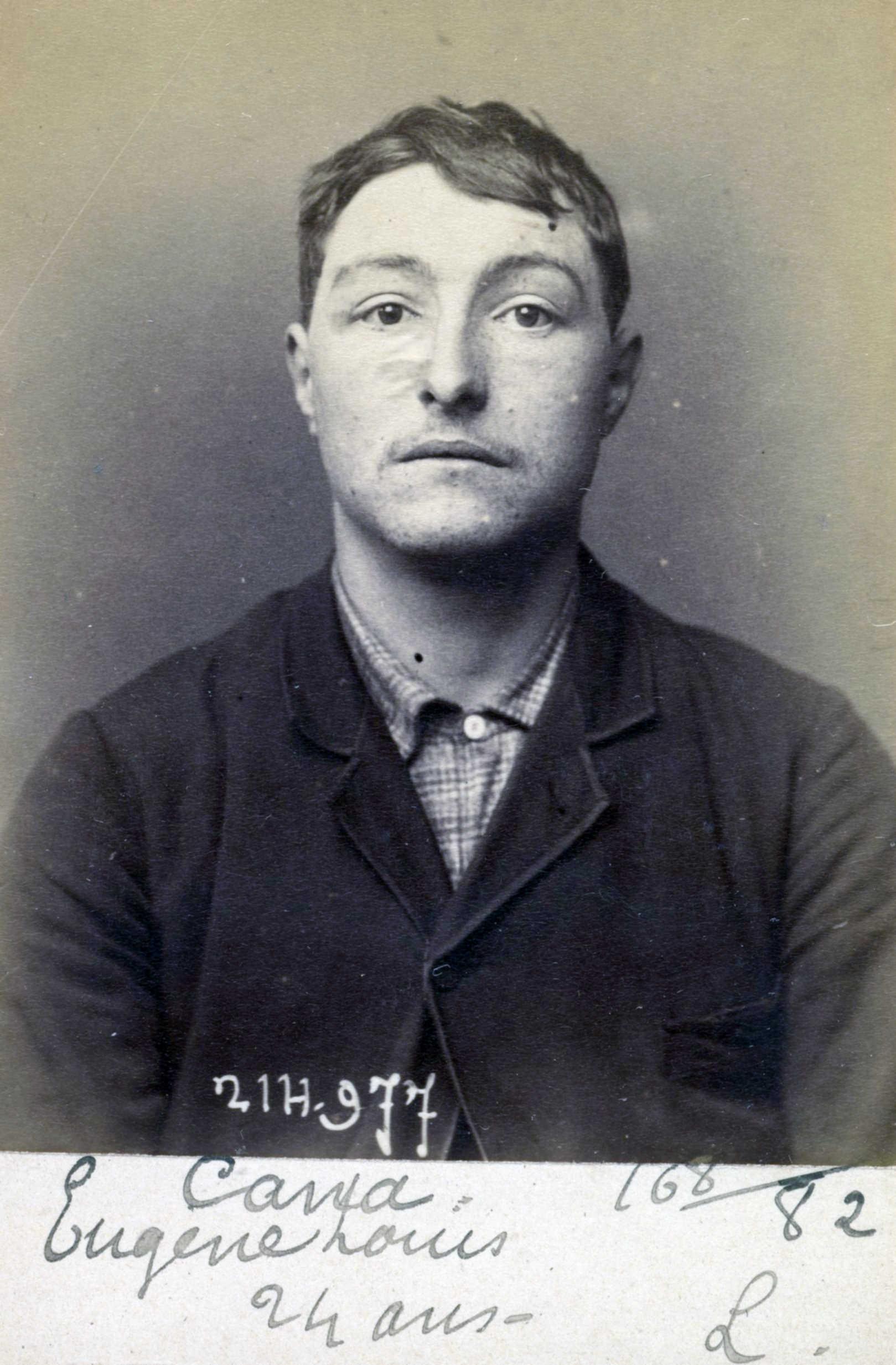 Fotografia policíaca d'Eugène Louis Cana (03 de març de 1894)