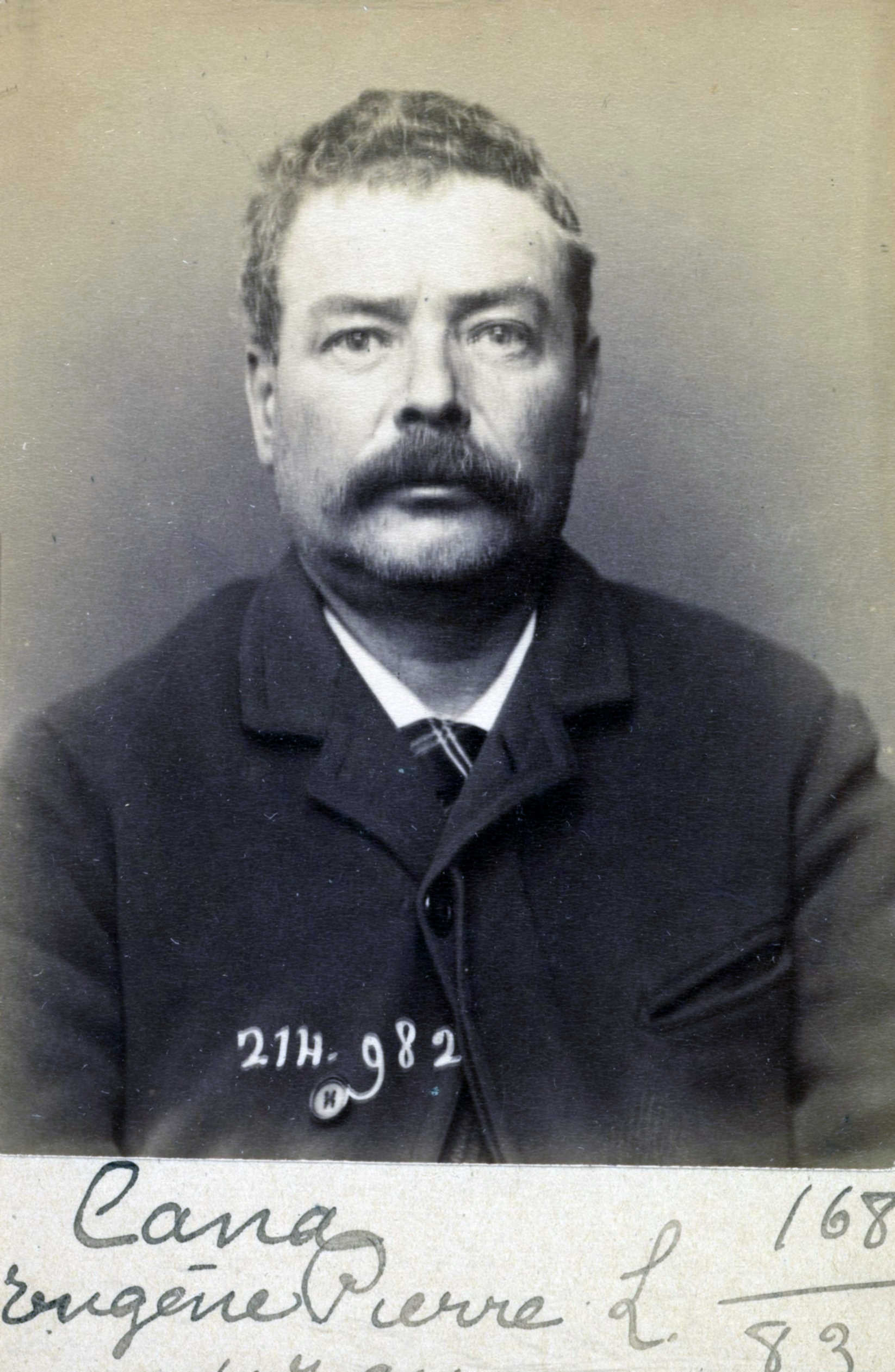 Foto policíaca de Pierre Eugène Cana (2 de març de 1894)