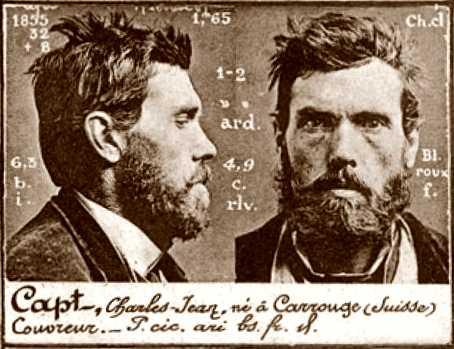 Foto policíaca de Charles-Jean Capt (ca. 1894)