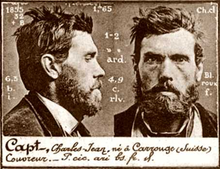 Foto policial de Charles-Jean Capt (ca. 1894)