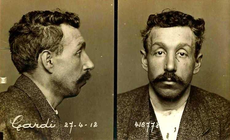 Foto policíaca de Pierre Cardi (24 d'abril de 1912)