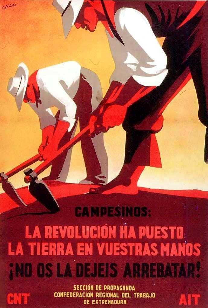 Cartell de Gallo per a la CNT-AIT d'Extremadura