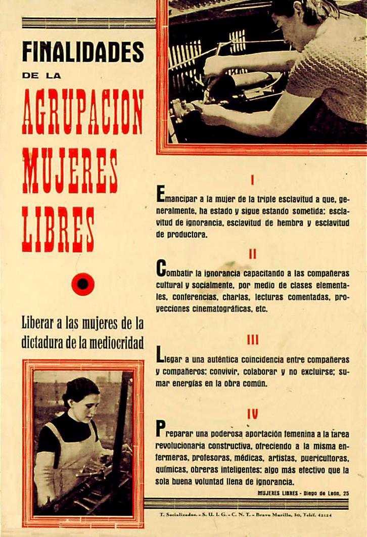 Cartell programàtic de Mujeres Libres