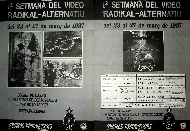 Cartells de la I Setmana del Vídeo Radikal-Alternatiu