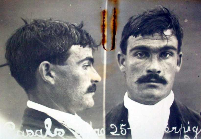 Foto antropomètrica de Pere Casals Solà (setembre de 1917)