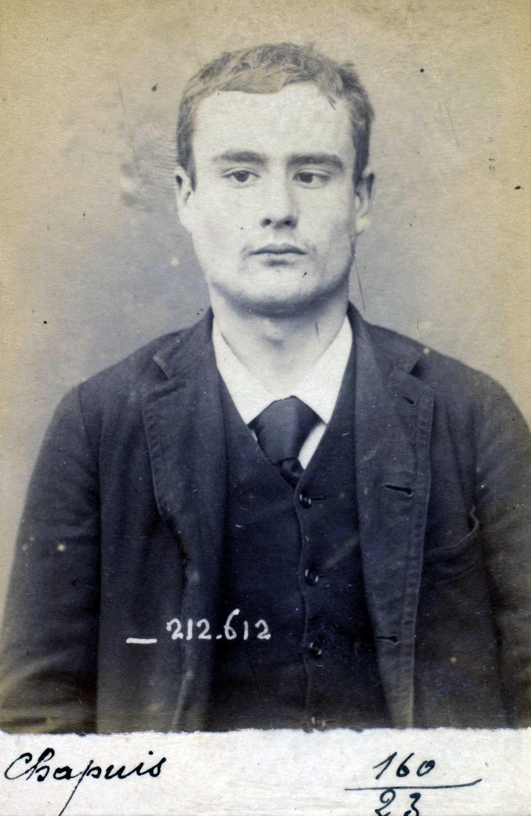 Foto policíaca de Charles Chapuis (7 de gener de 1894)