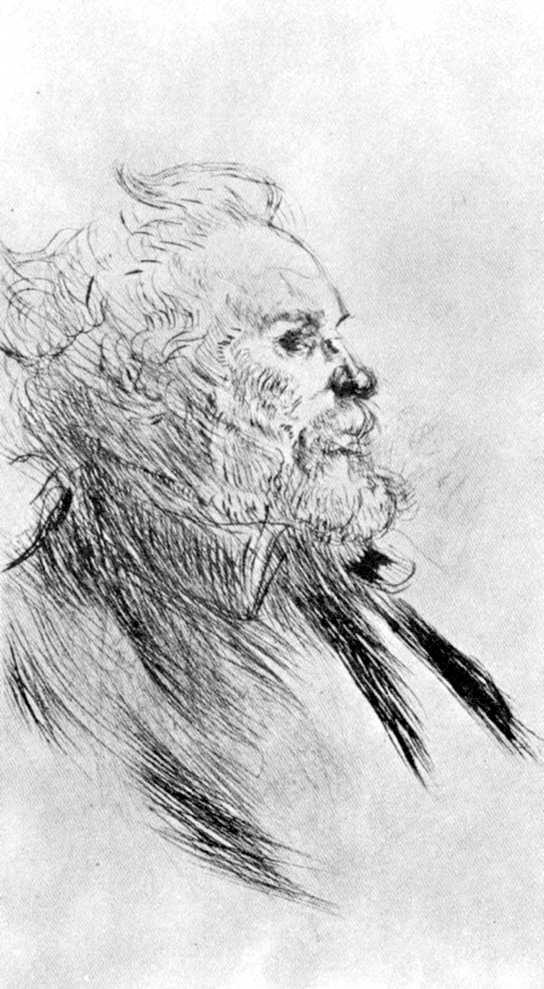 Charles Maurin segons un dibuix de Toulouse-Lautrec (1898)