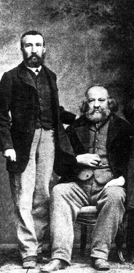 Charles Perron (esquerra) amb Bakunin (1866)