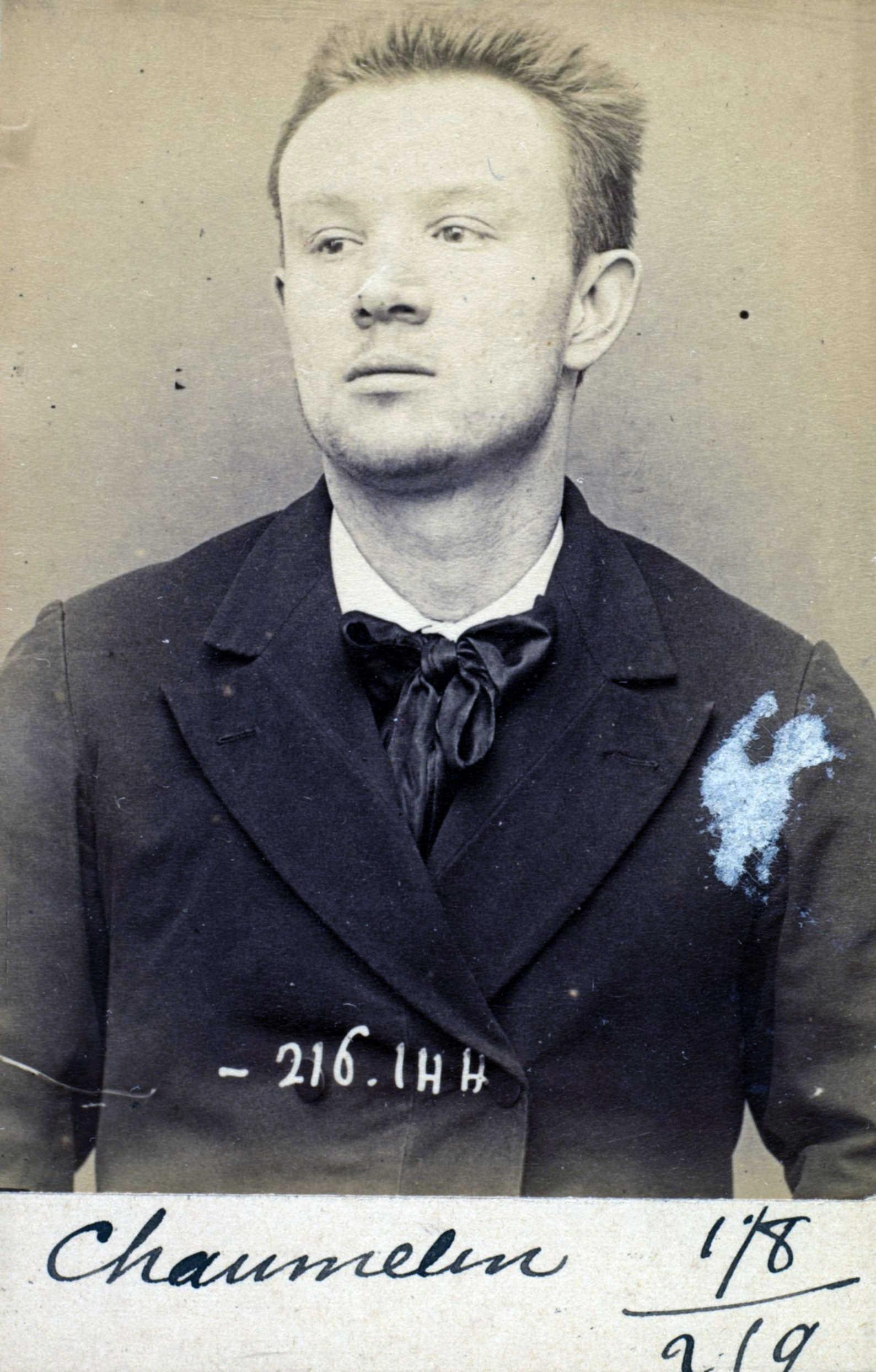 Foto policíaca d'Odilon Chaumelin (24 de març de 1894)