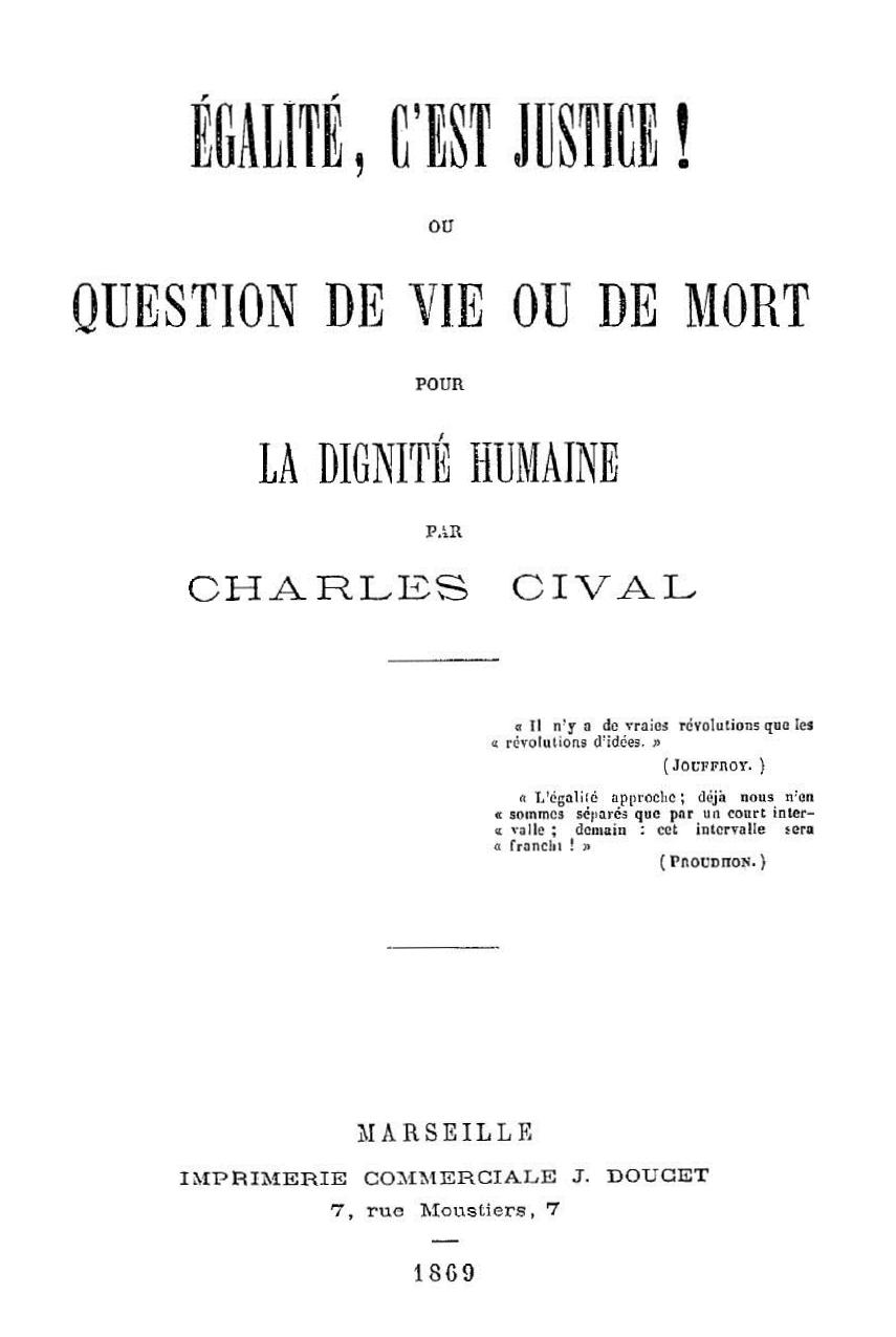 Portada del llibre de Charles Cival