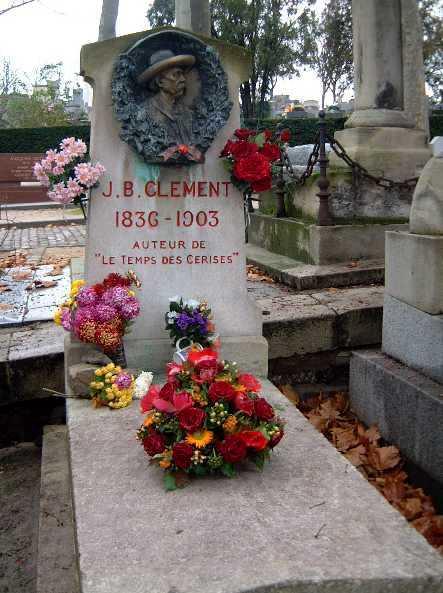 Tomba de Jean-Baptiste Clément al cementiri parisenc de Père-Lachaise
