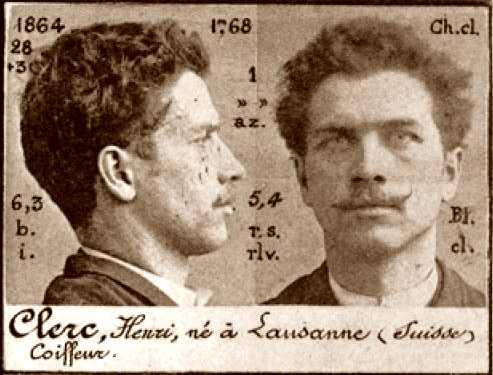 Foto policíaca d'Henri Clerc (ca. 1894)