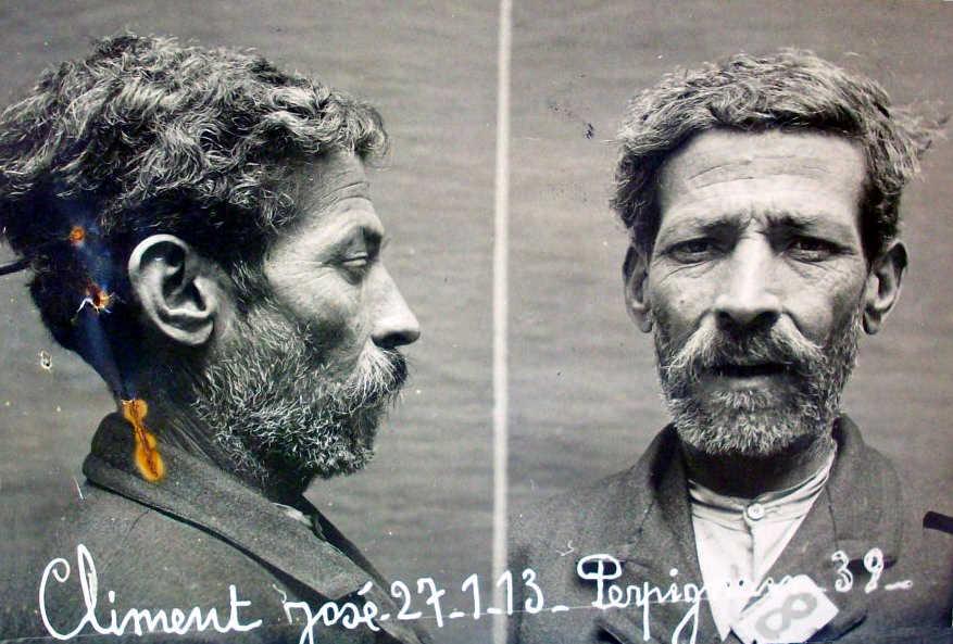 Foto antropomètrica de Josep Climent Hors (Perpinyà, 27 de gener de 1913)