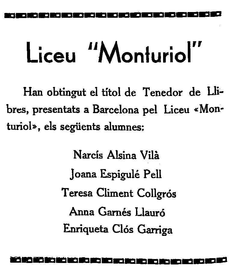 """Notícia sobre la graduació d'Enriqueta Clos Garriga apareguda en el setmanari republicà figuerenc """"Libertad"""" de l'11 de febrer de 1933"""