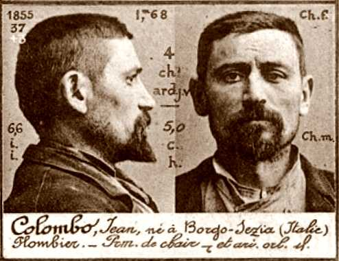 Foto policíaca de Giovanni Colombo (ca. 1894)