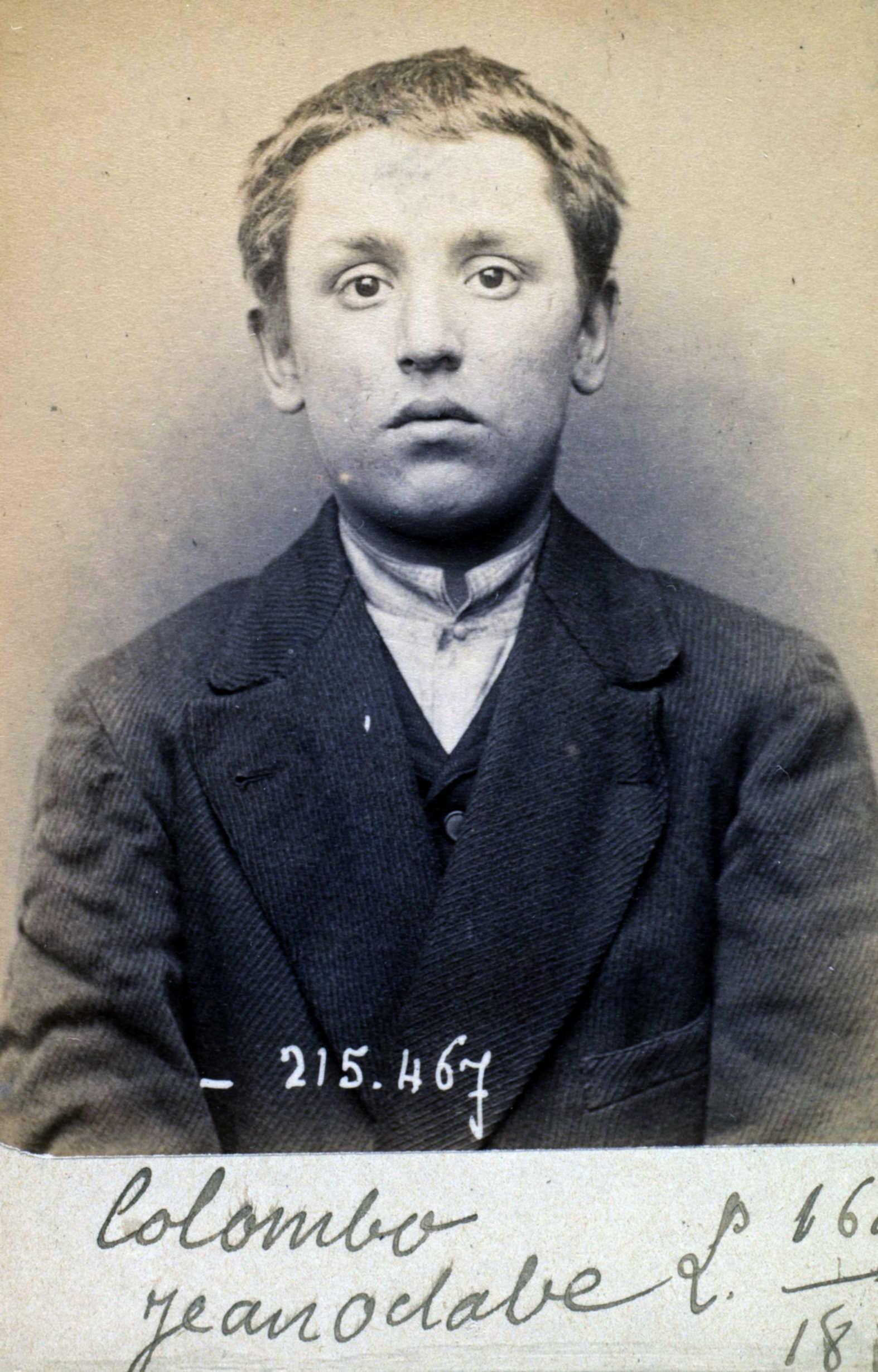 Foto policíaca de Joseph Colombo (10 de març de 1894)