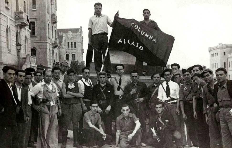 Milicians de la Columna Ascaso