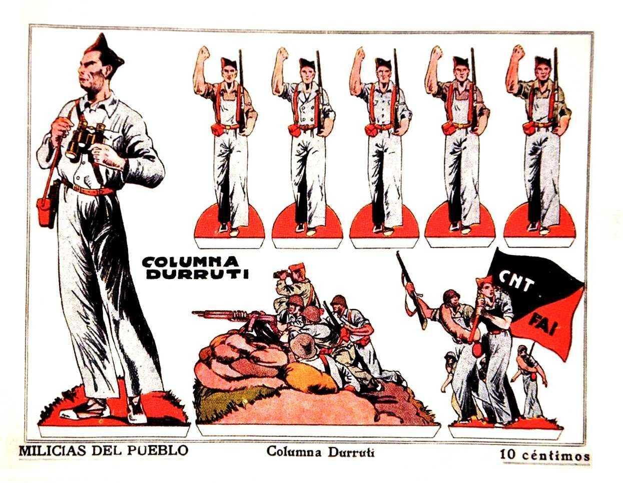 Recortable de la Columna Durruti