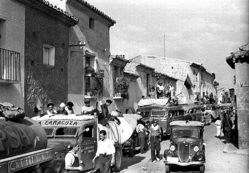 Miembros de la Columna Durruti en Bujaraloz