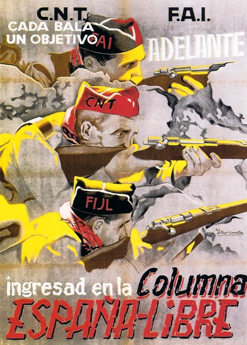 "Cartel de la columna ""España Libre"""