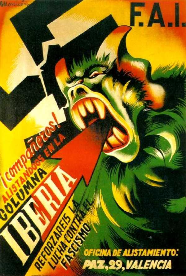 Cartell de la Columna Ibèria, obra de Monleón