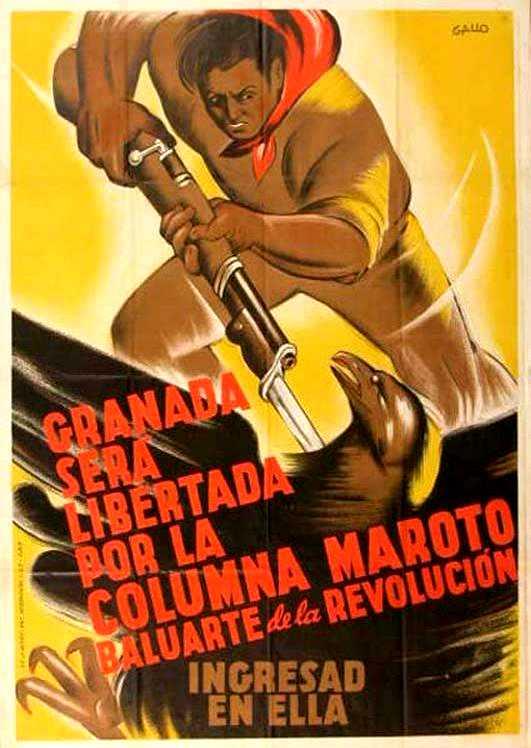 """Cartel propagandístico de la """"Columna Maroto"""""""